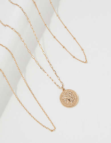 AEO Coin Layering Necklaces 3-Pack