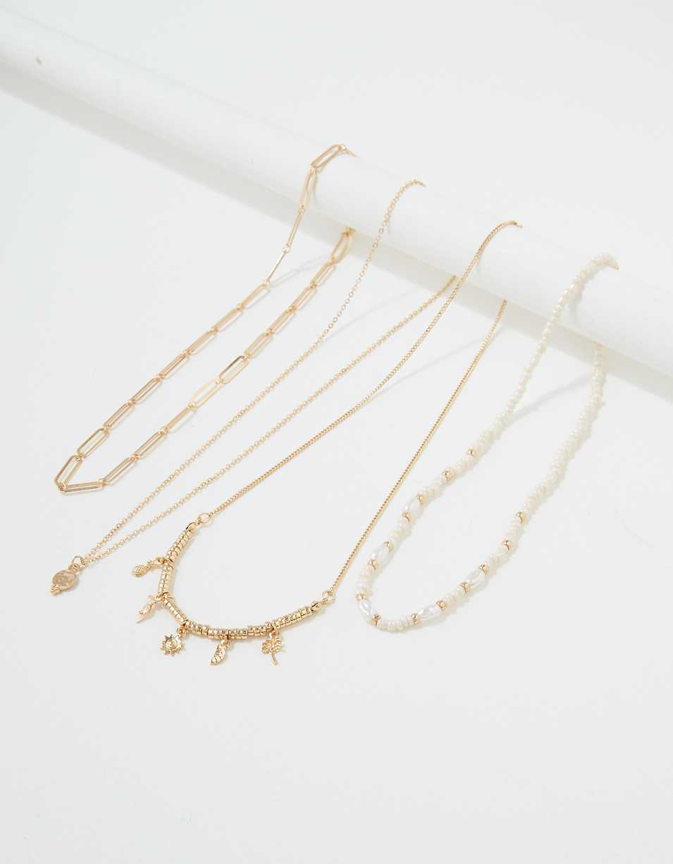 AEO Chunky Layering Necklaces 4-Pack