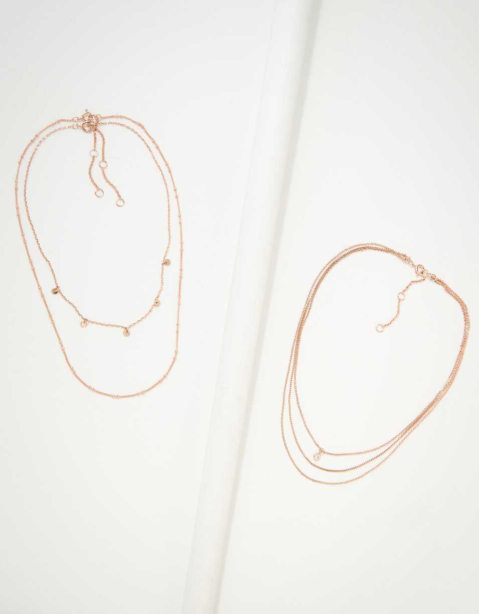 AEO Rose Gold Necklaces 3-Pack