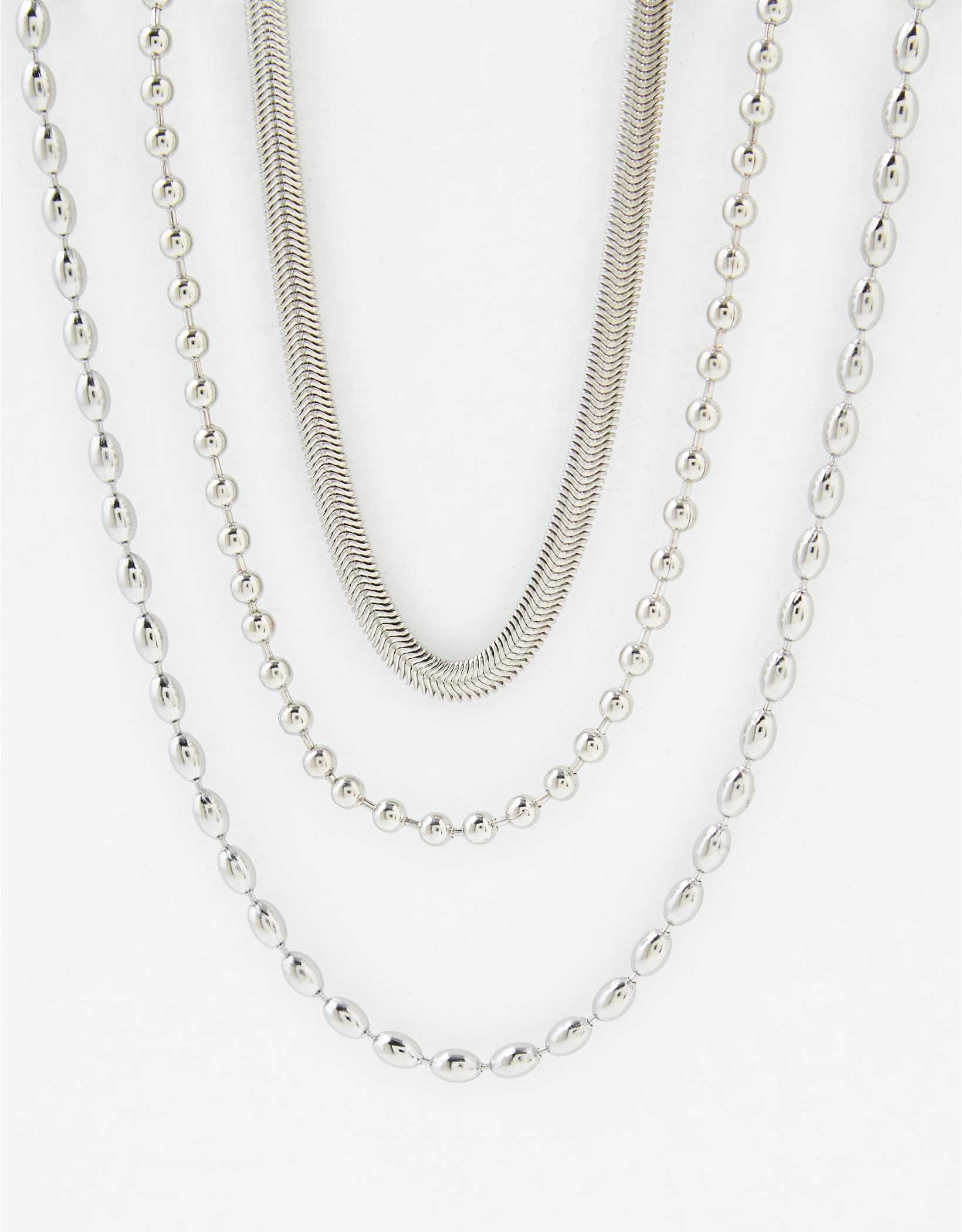 AEO Silver Ball Chain Necklace 2-Pack