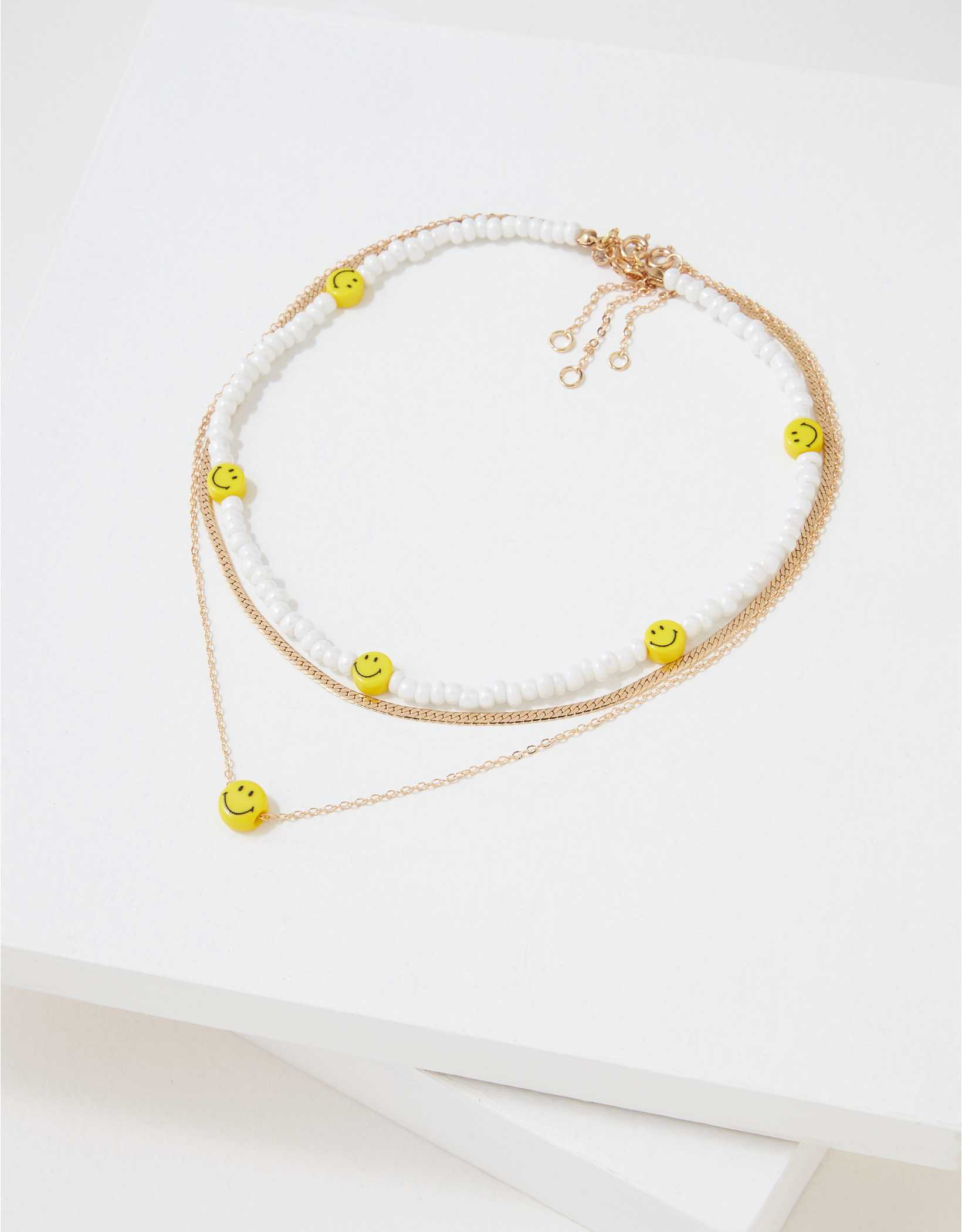 AEO Smiley Necklaces 3-Pack