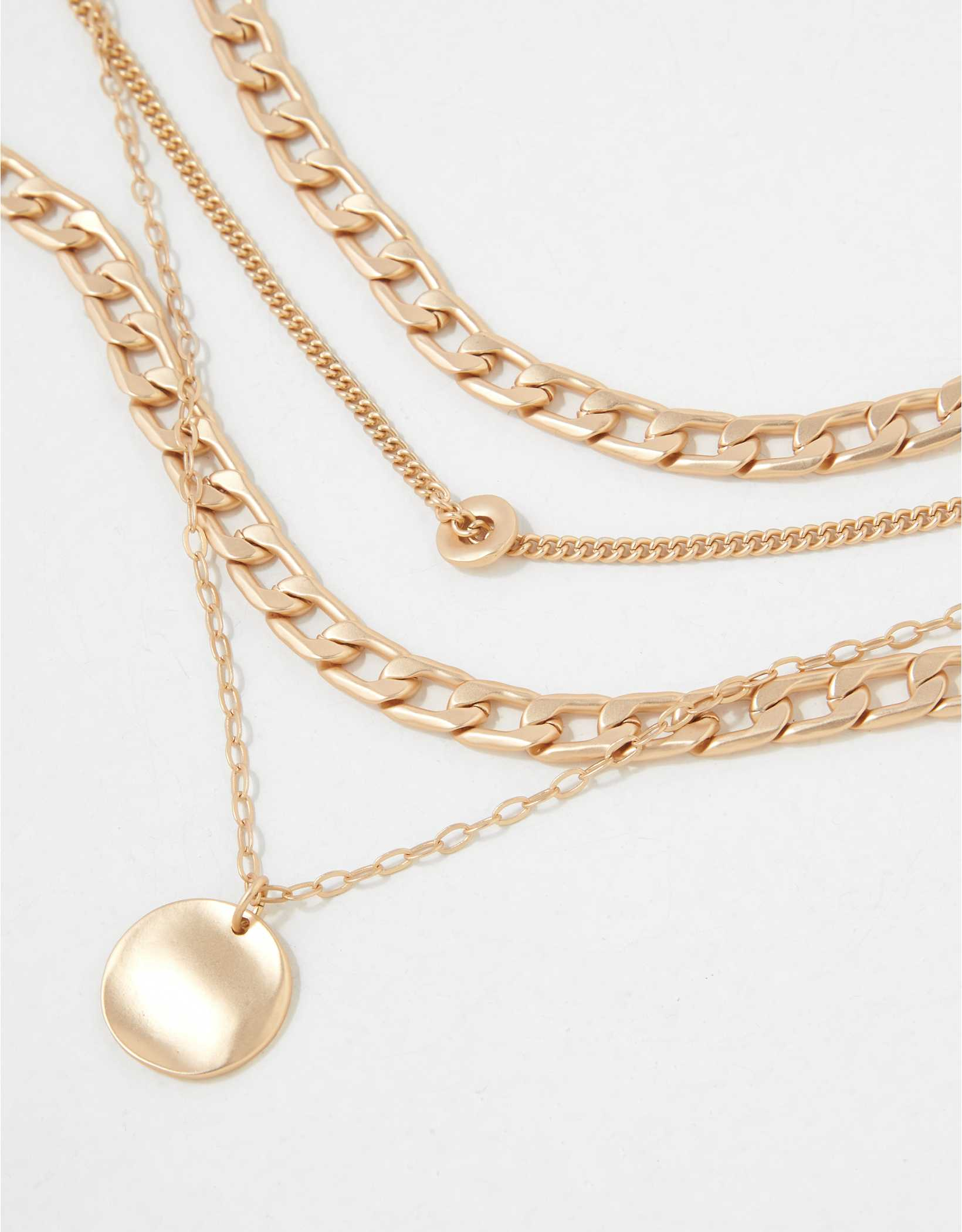 AEO Discs Layering Necklaces 4-Pack