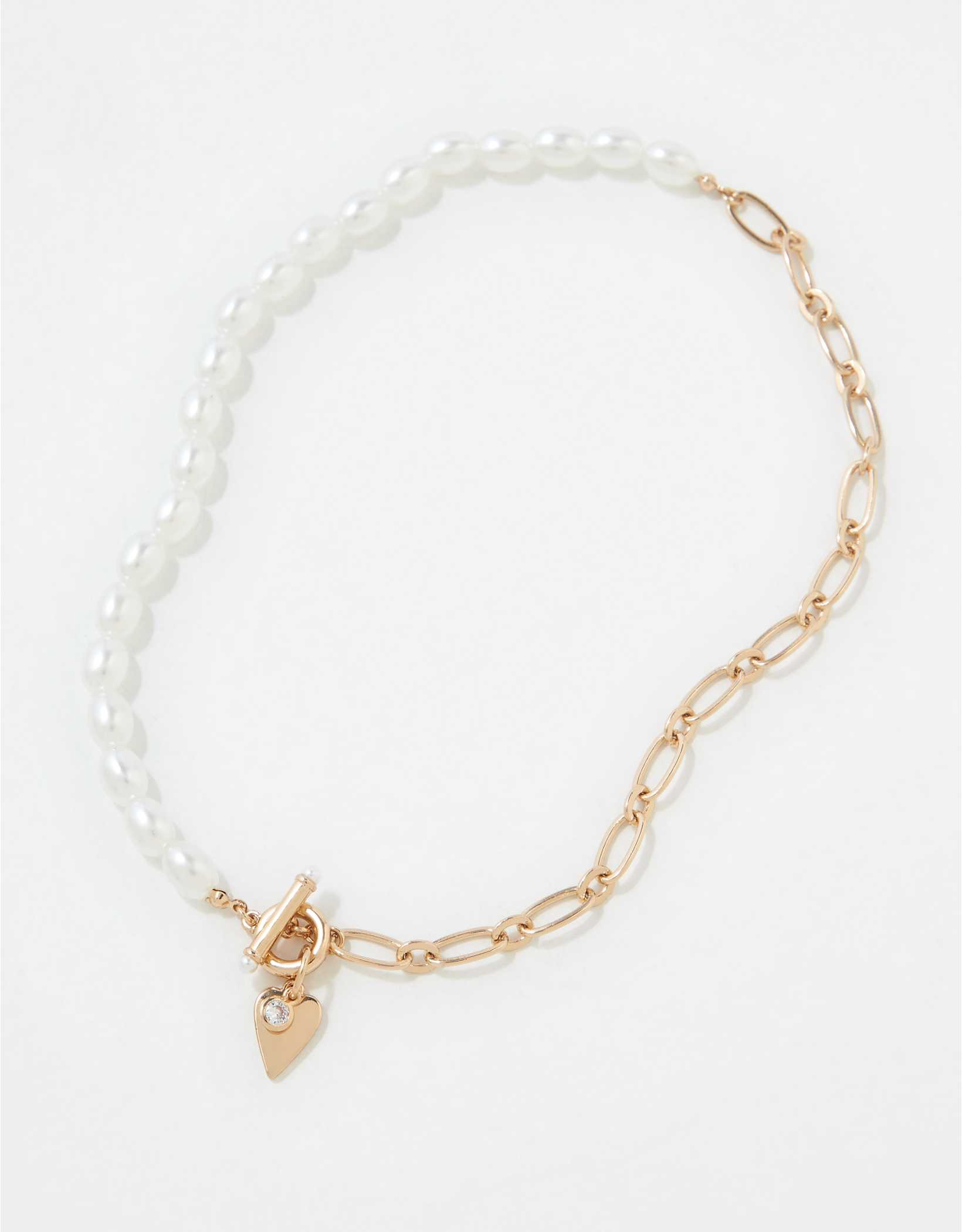 AEO Pearl Toggle Necklace