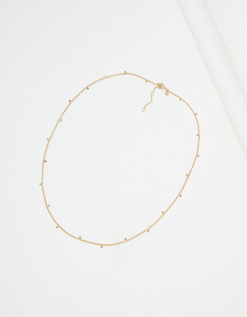AE Demi-Fine 14K Gold Discs Necklace