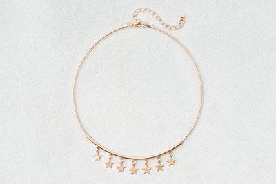 Dangle Star Charms Collar