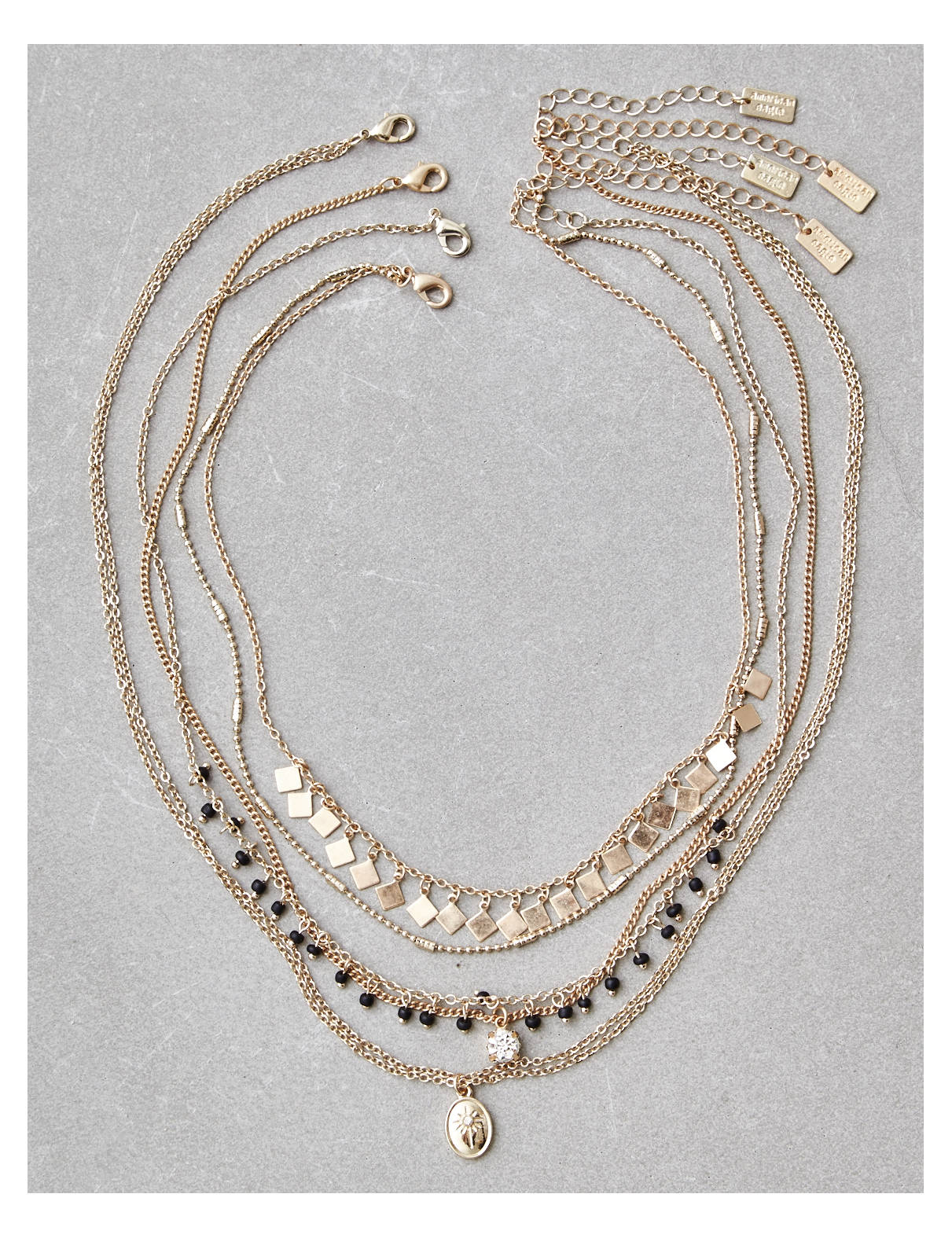 Display product reviews for AEO Seed Bead Layering Necklace