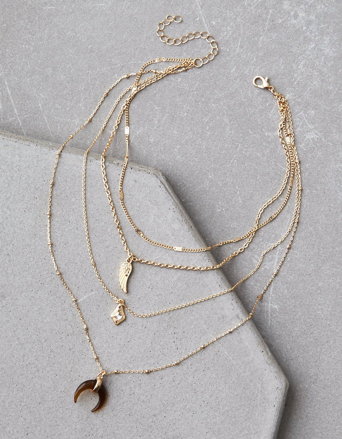 AEO Layered Tort Necklace | Tuggl