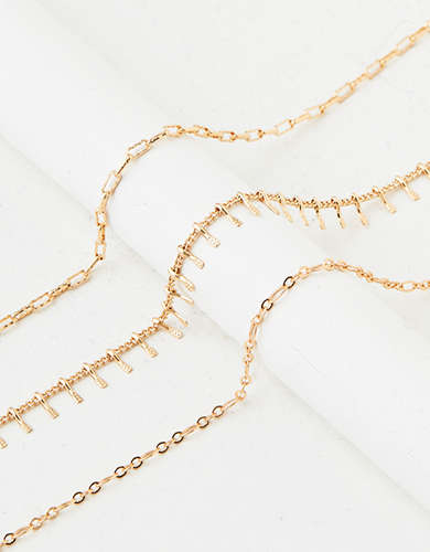 AEO Gold Necklace 3-Pack