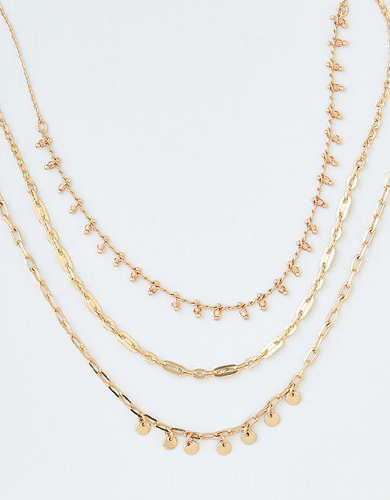 AEO Novelty Chain Necklace 3-Pack