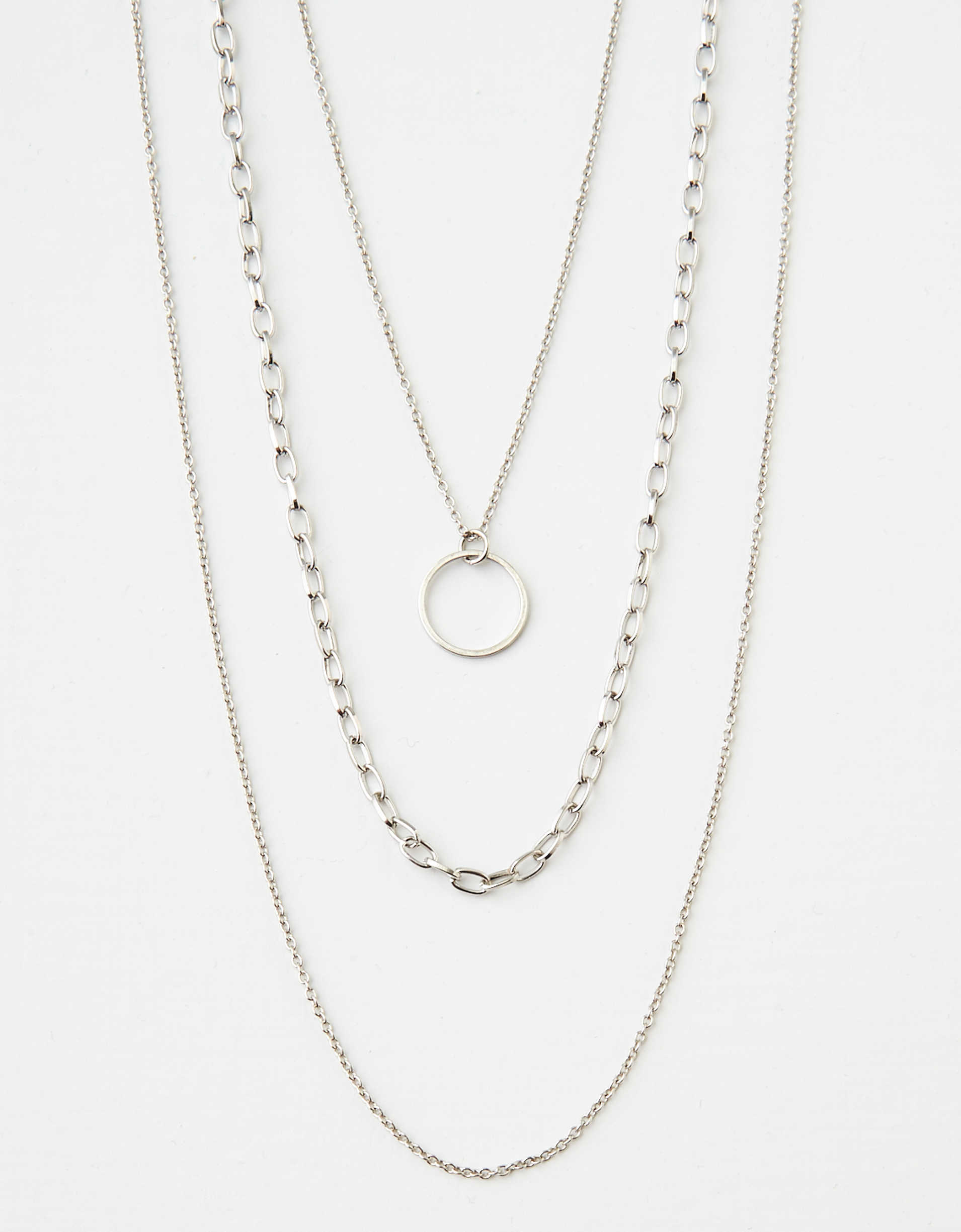 AEO Silver Necklace 3-Pack