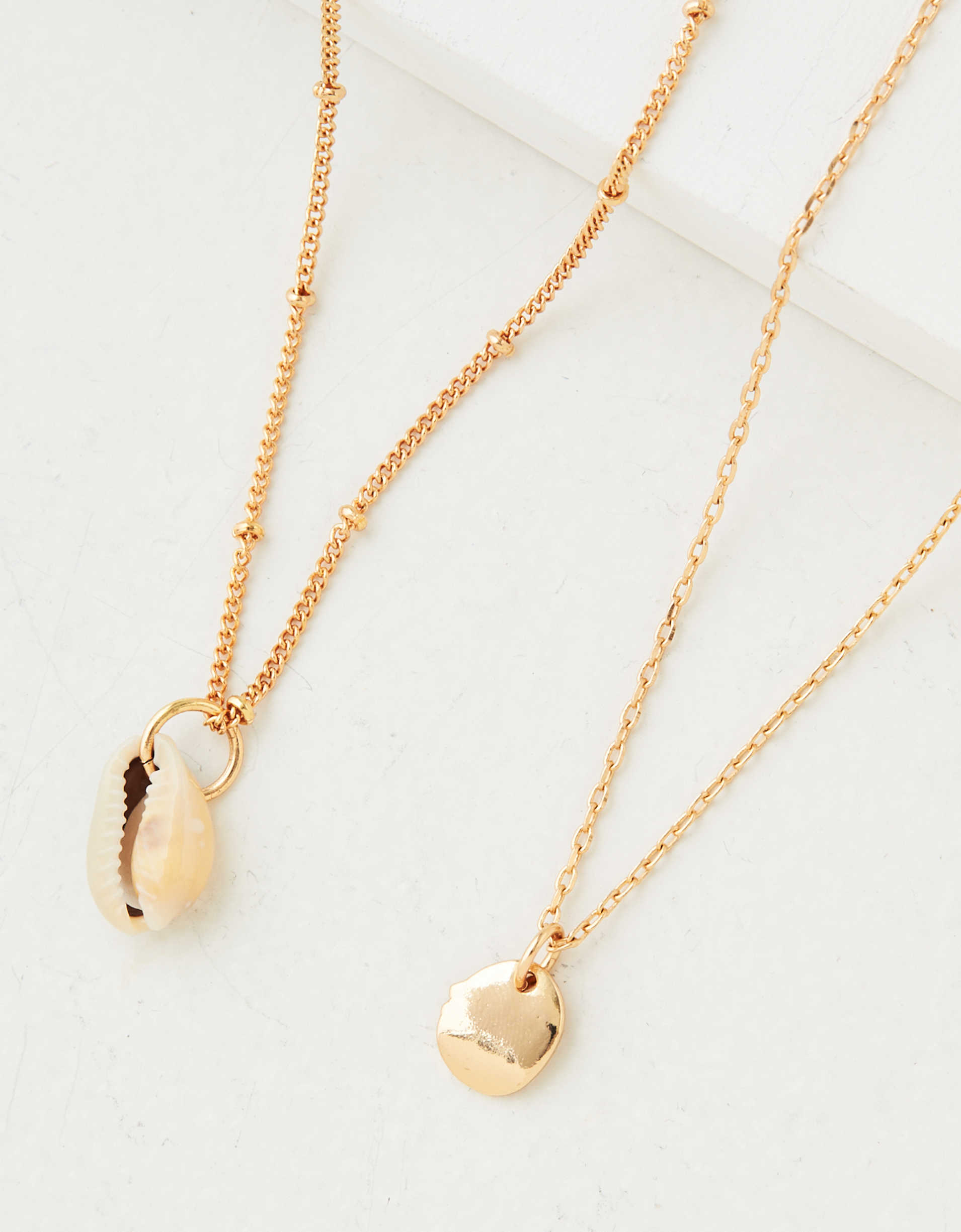 AEO Layered Shell Necklace