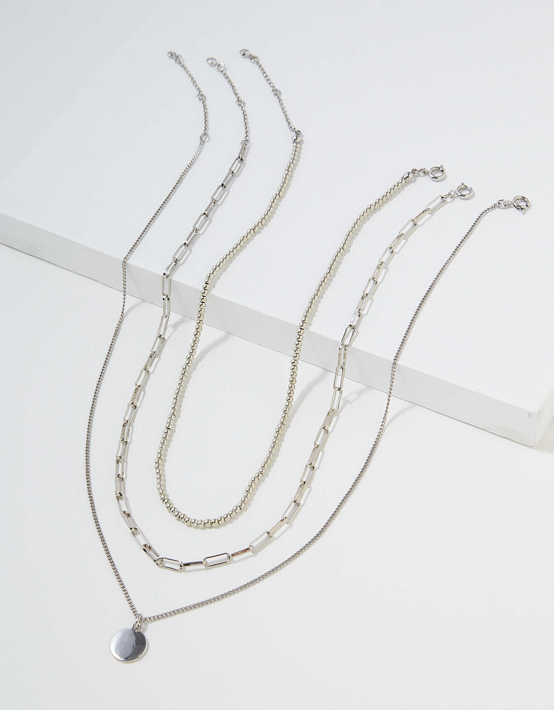AEO Disc + Beaded Necklaces 3-Pack