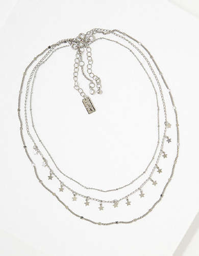 AEO Silver Star Necklaces 3-Pack
