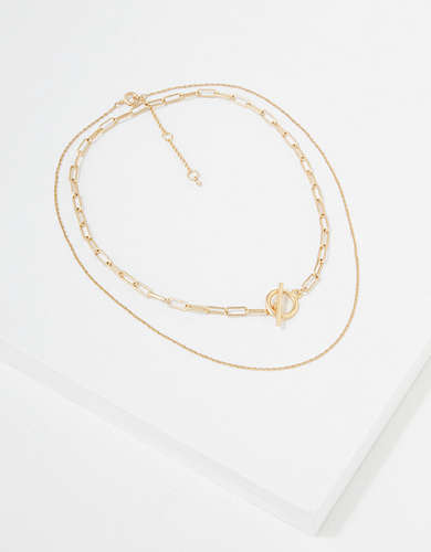 AEO Gold Chain Necklaces 2-Pack