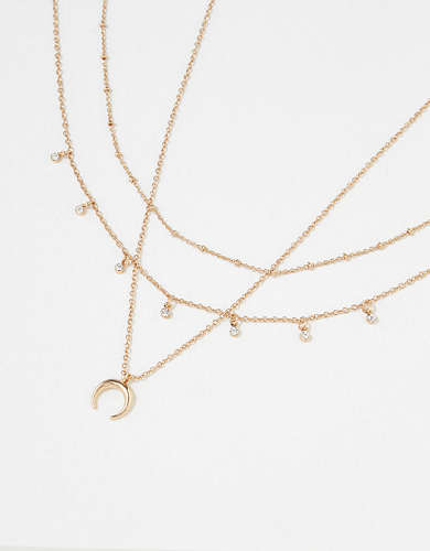 AEO Crescent Necklaces 3-Pack