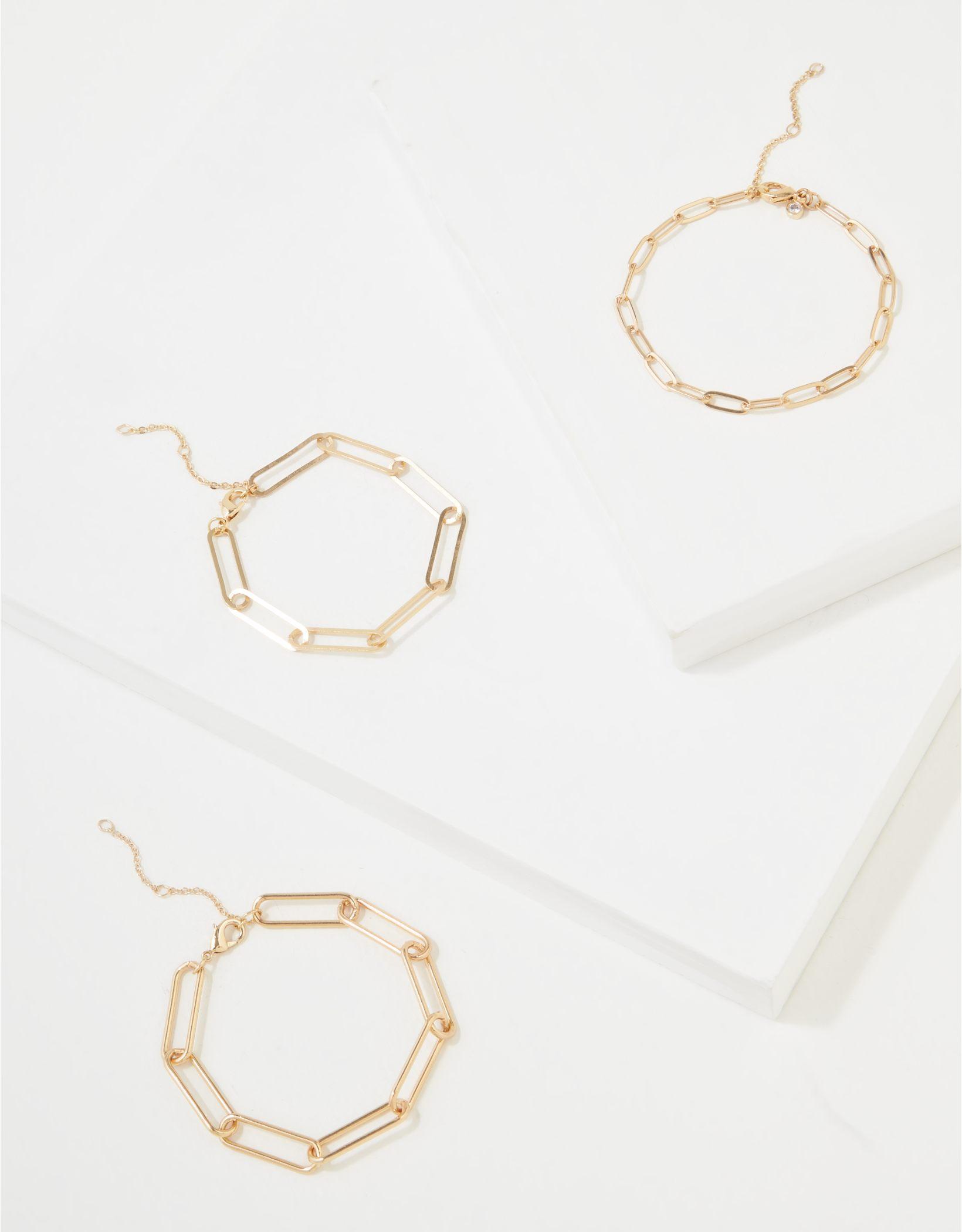 AEO Chunky Chain Bracelets 3-Pack