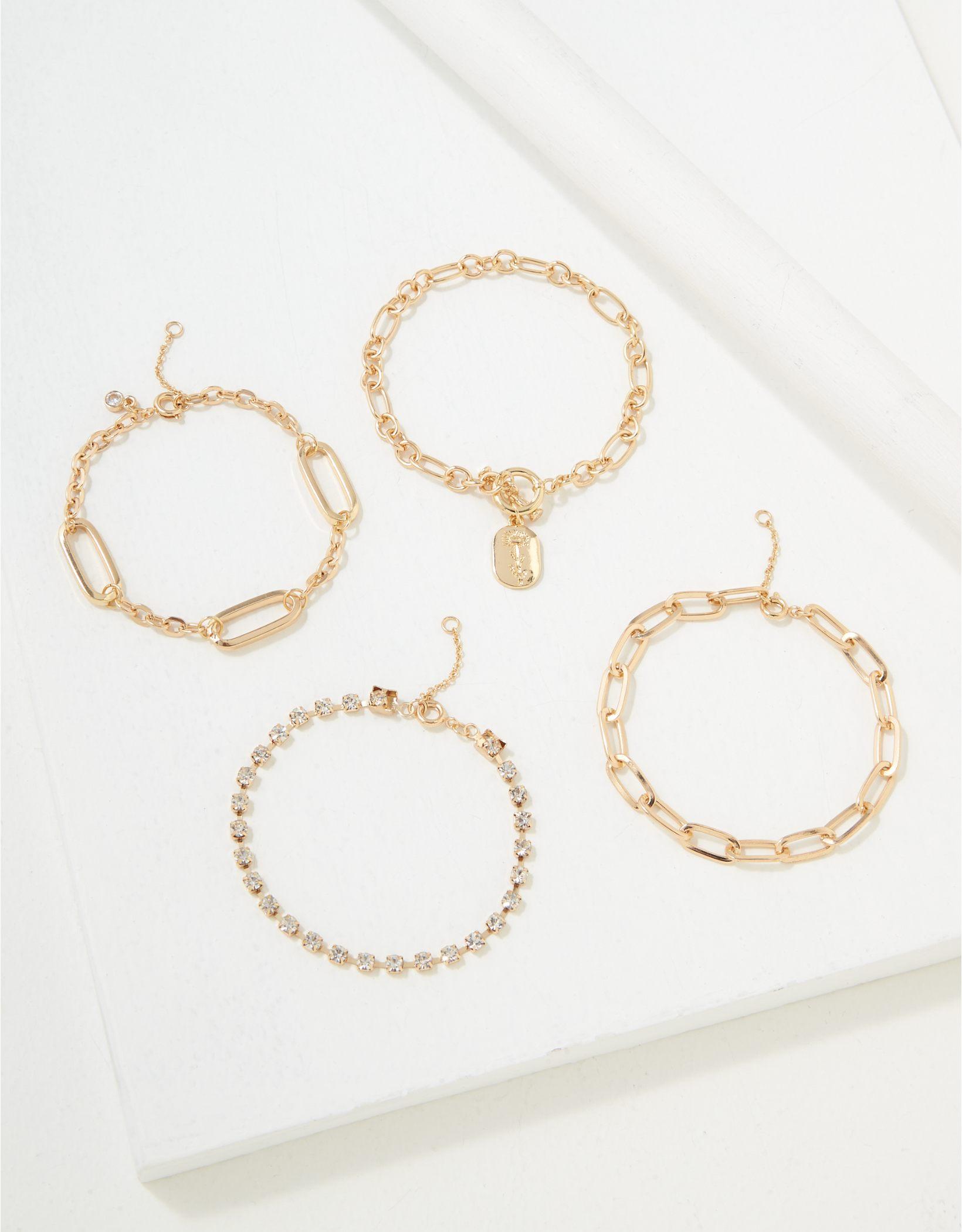 AEO Floral Toggle Bracelet 4-Pack