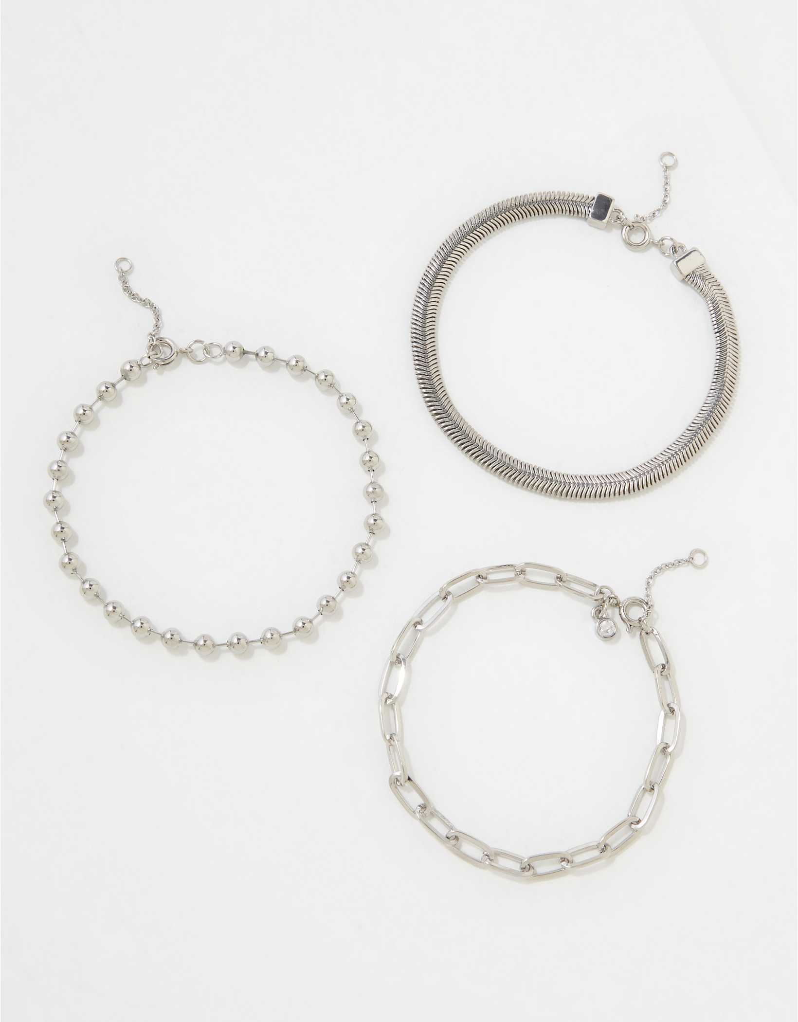 AEO Silver Bracelets 3-Pack