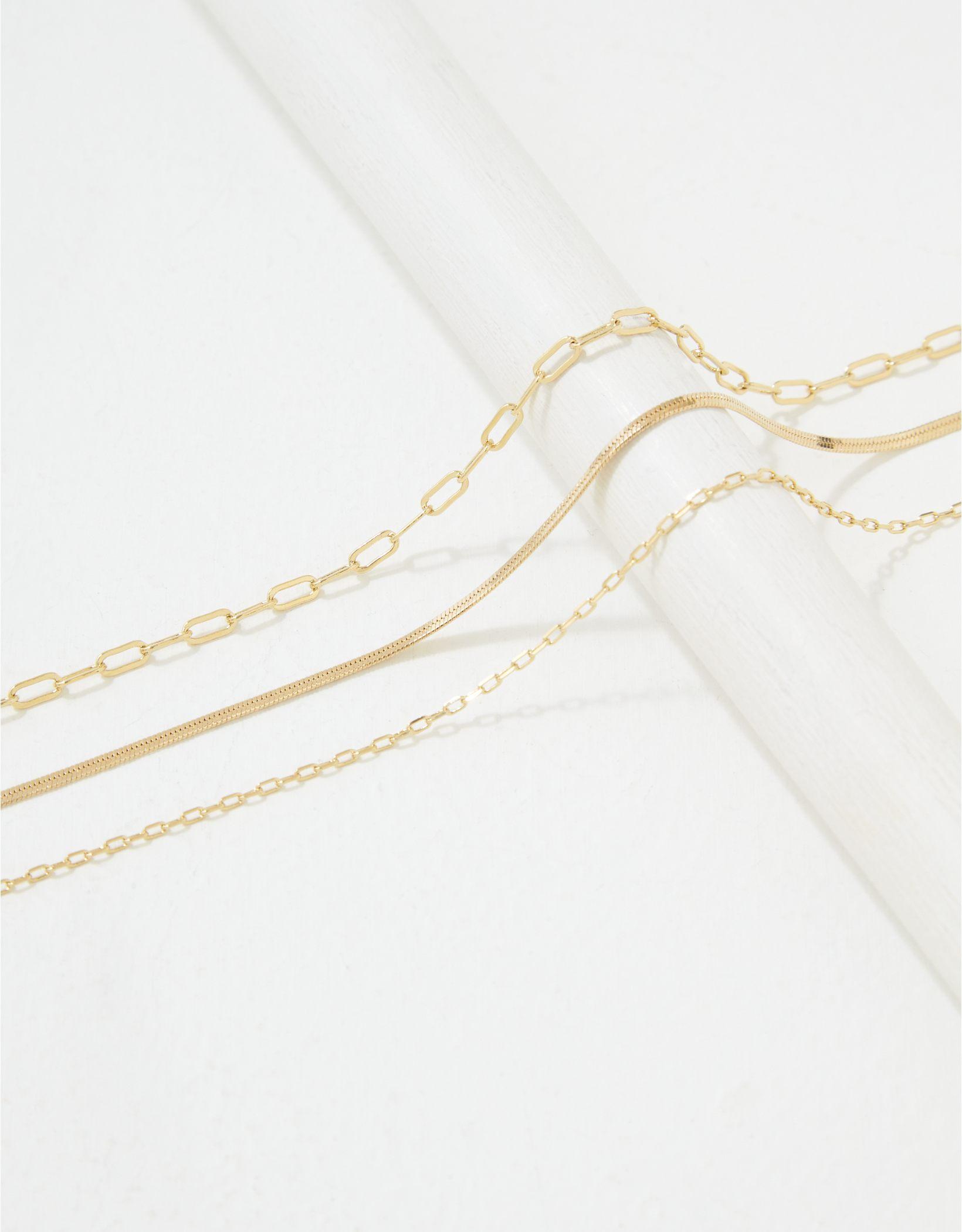 AE Demi-Fine 14K Gold Chain Bracelet 3-Pack