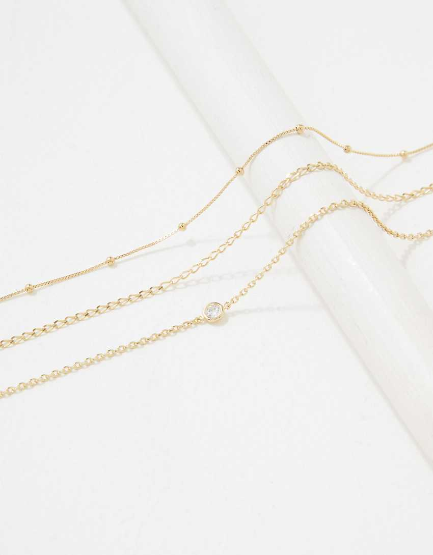 AE The Keeper's Collection 14K Gold Delicate Bracelet 3-Pack