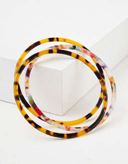 AE Multi Colored Tortoise Hard Bracelet