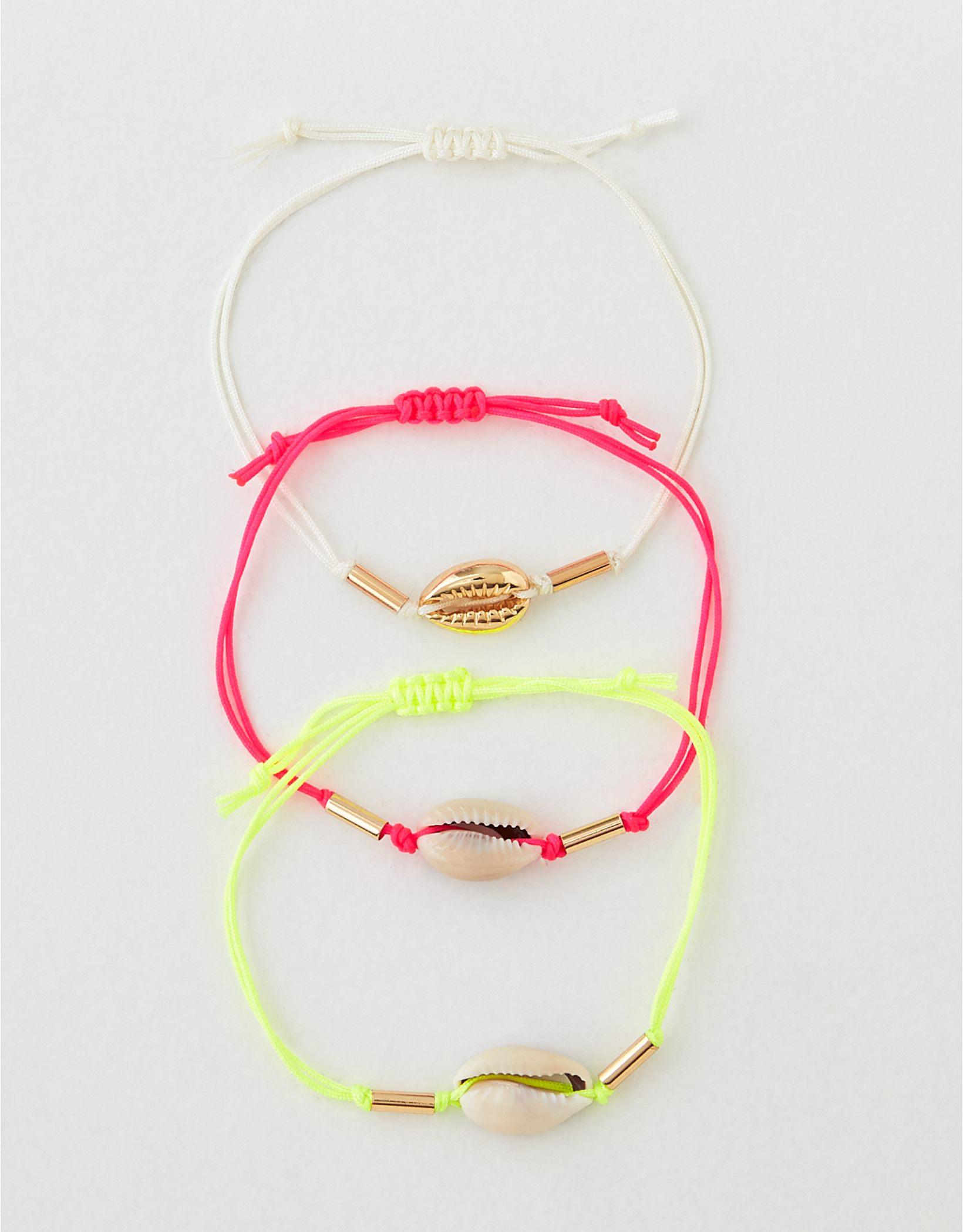 AEO Neon Shell Bracelet 3-Pack