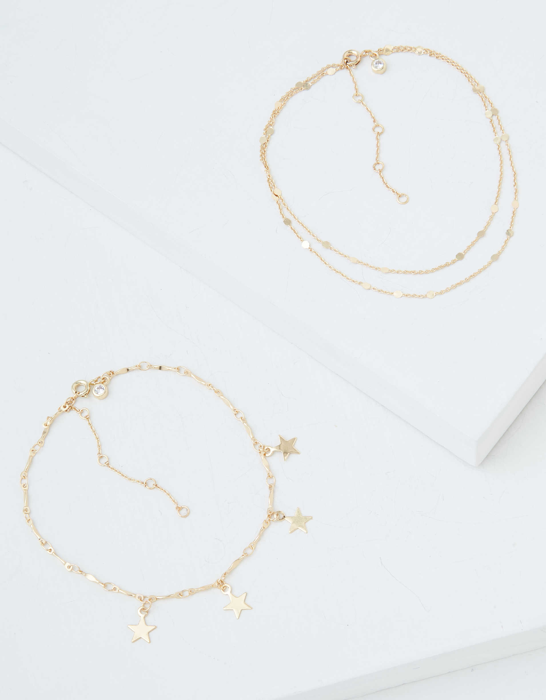 AEO Gold Star Anklets 2-Pack