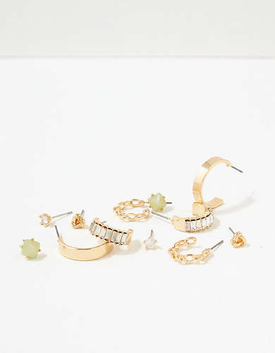 AEO Baguette + Stud Earrings 6-Pack