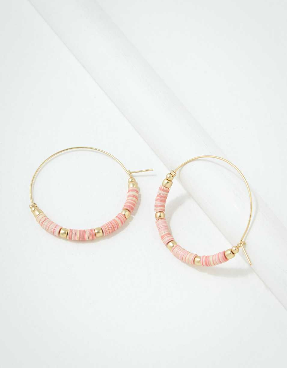 AEO Blush Beaded Hoop Earring