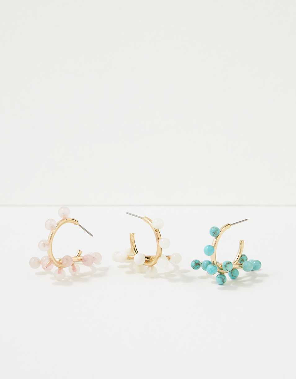 AEO Beaded Hoop Earrings 3-Pack