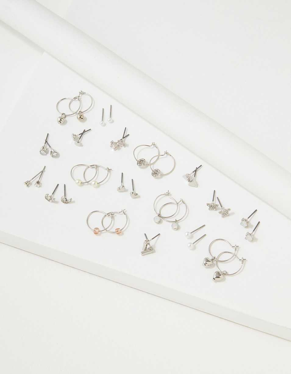 AEO Hoop + Stud Earrings 18-Pack