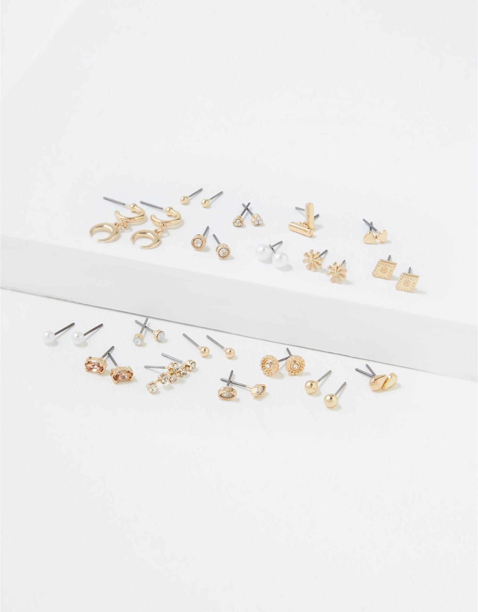 AEO Gold + Rose Gold Earrings 18-Pack