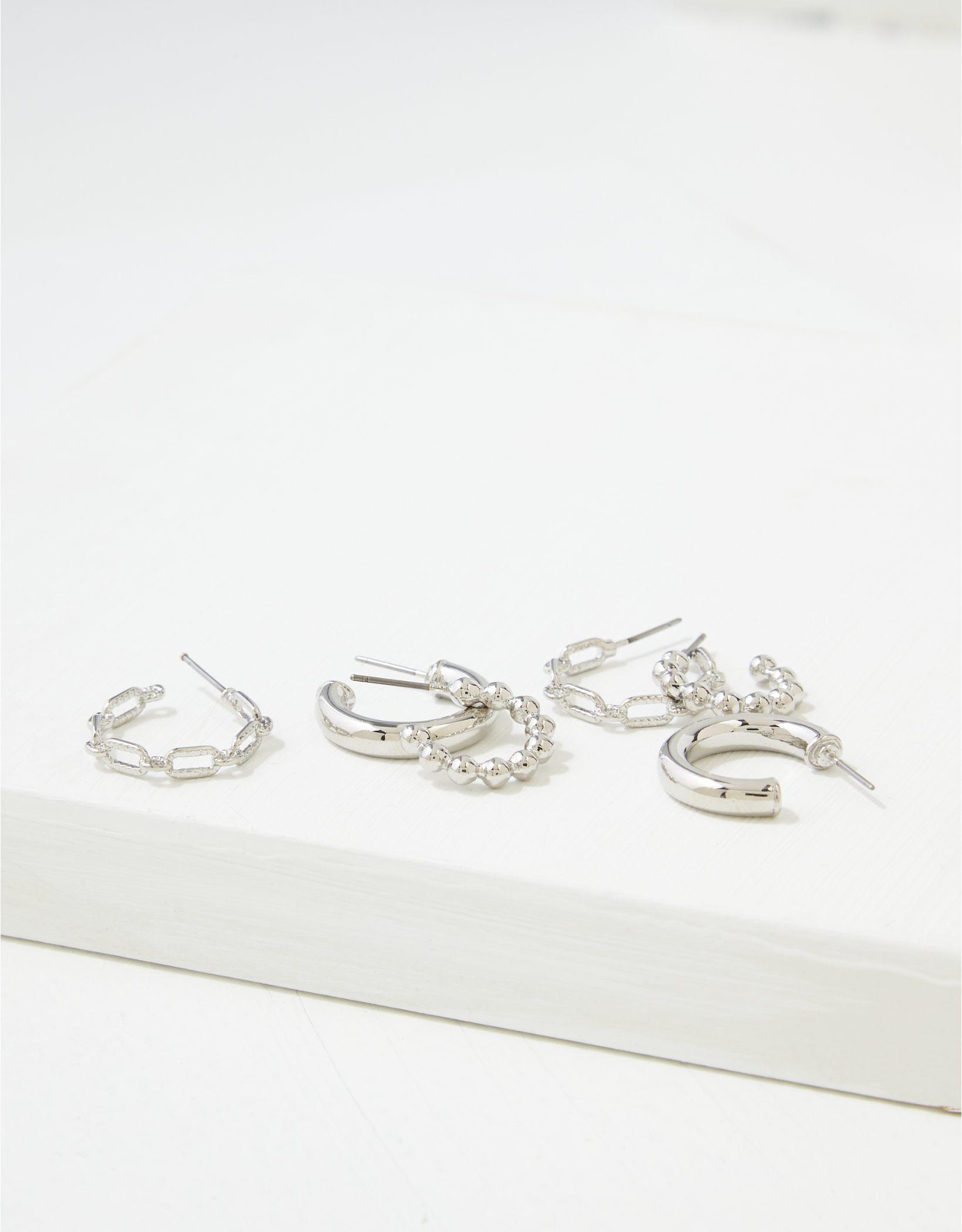 AEO Gold Mini Hoop Earrings 3-Pack