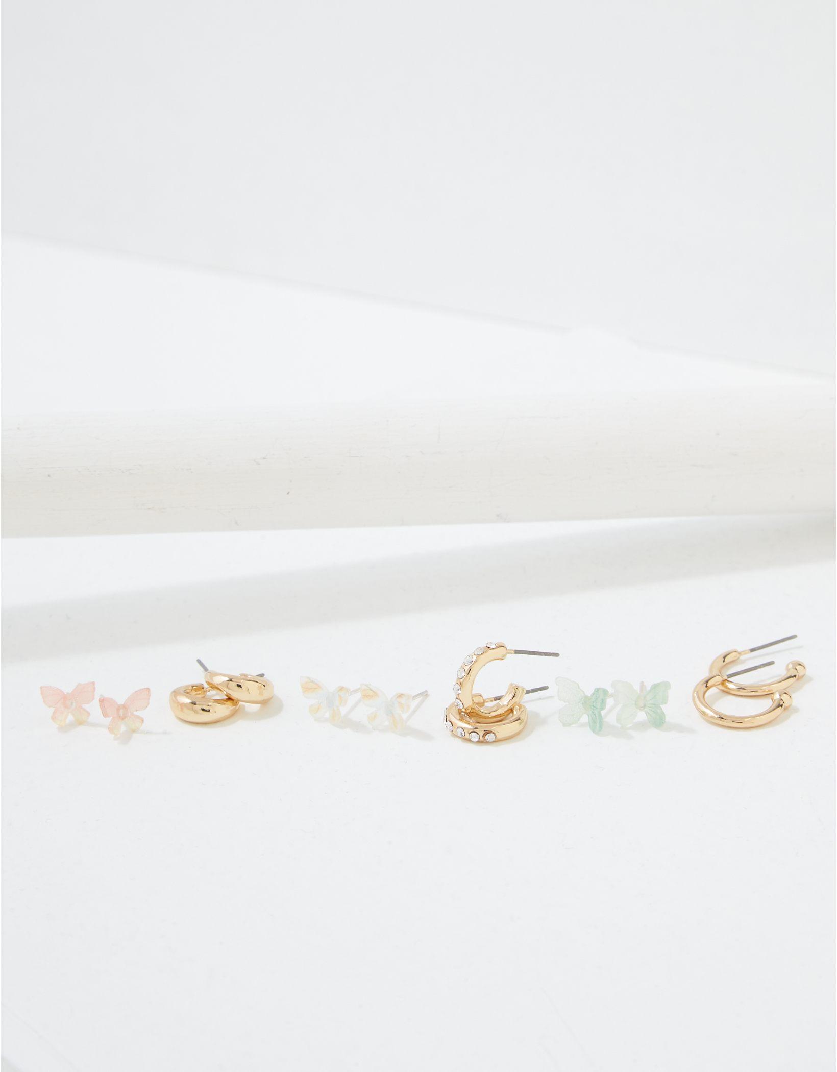AEO Butterfly & Hoop Earrings 6-Pack