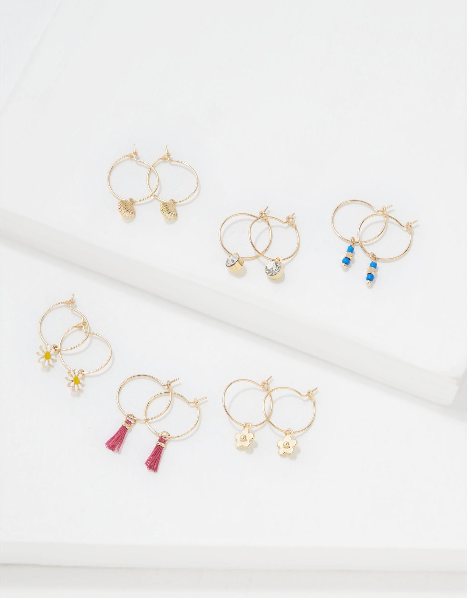AEO Charm Mini Hoop Earrings 6-Pack