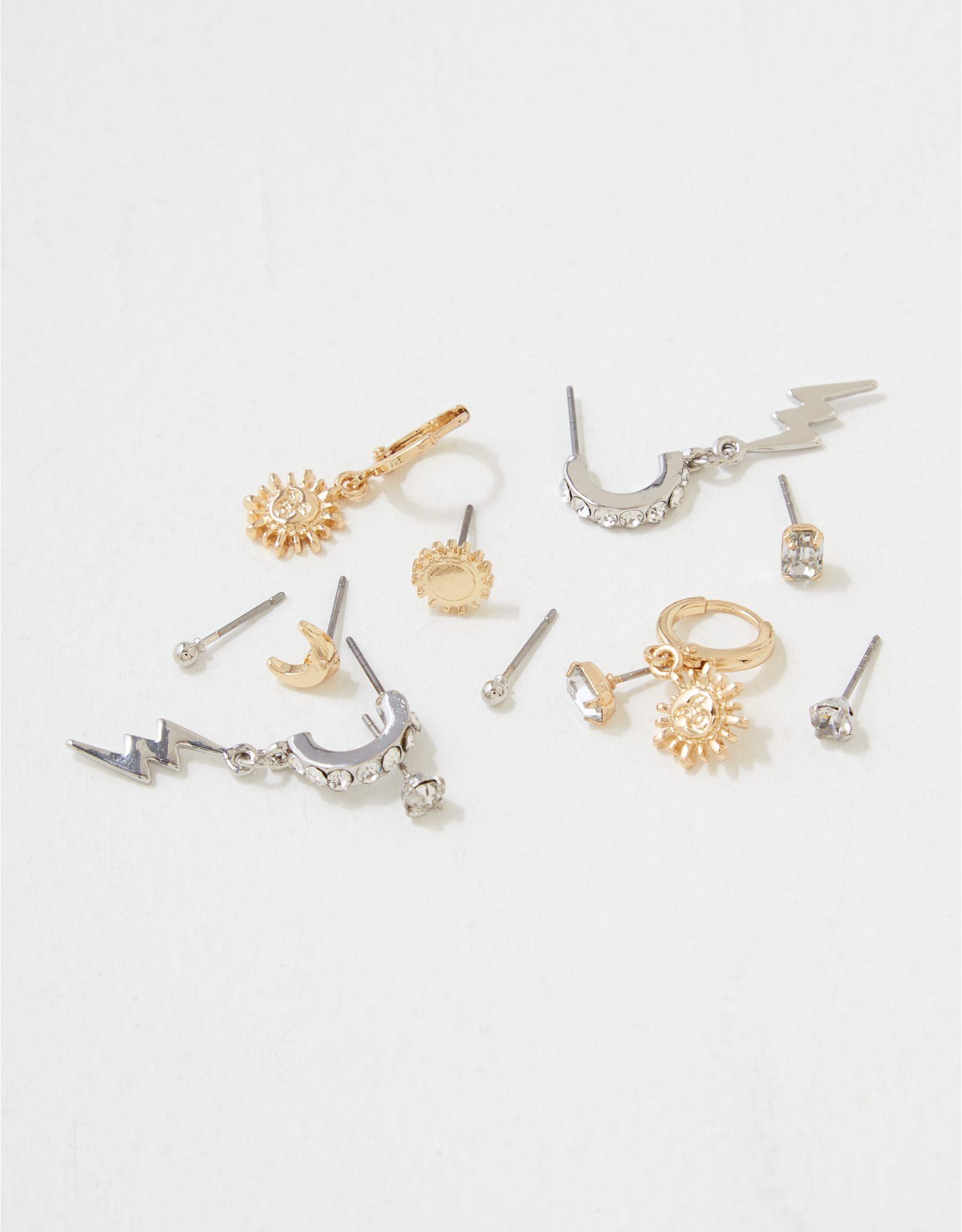 AEO Sun + Moon Earrings 6-Pack