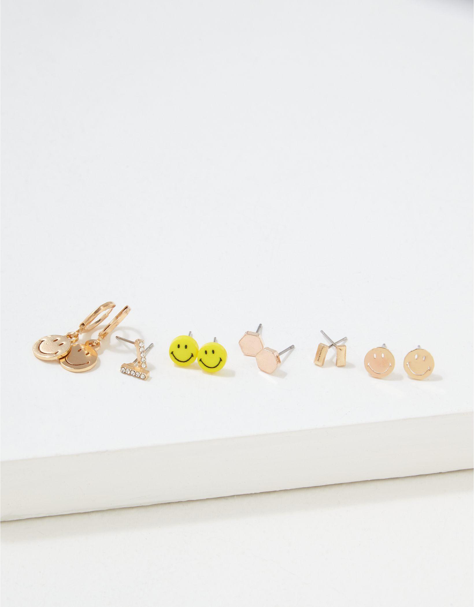 AEO Smiley Earrings 6-Pack