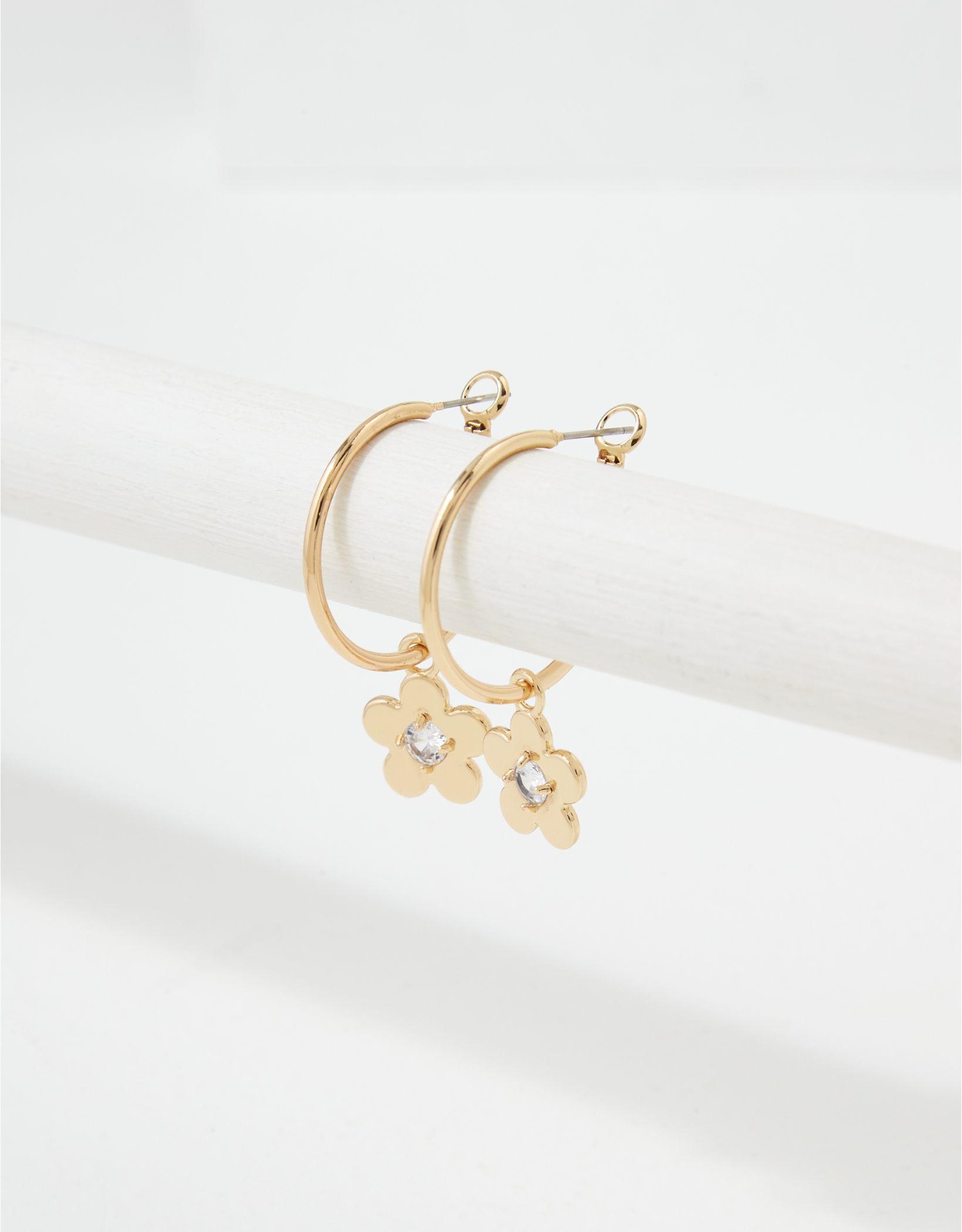 AEO Gold Floral Hoop Earring