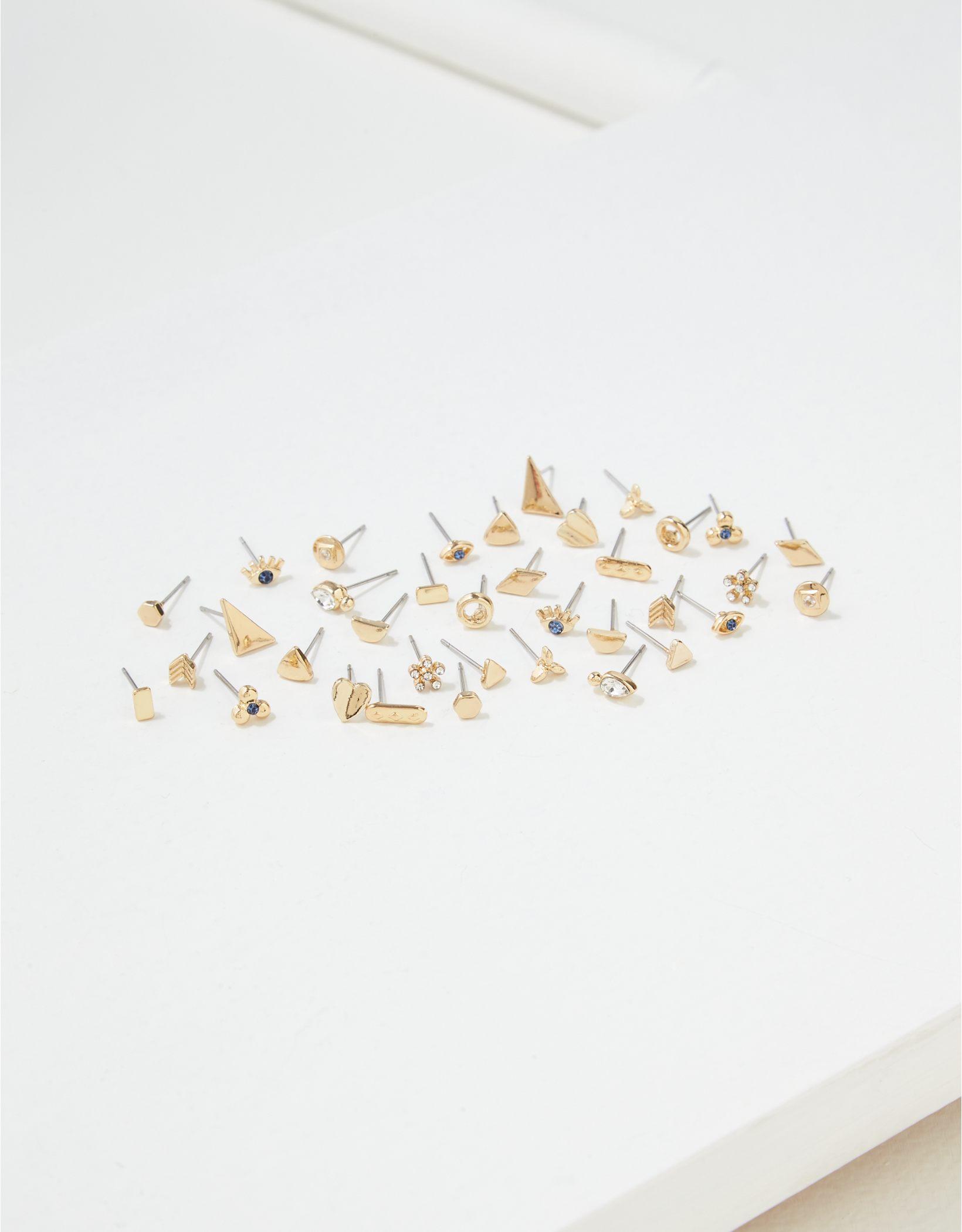 AEO Gold Stud Earrings 18-Pack