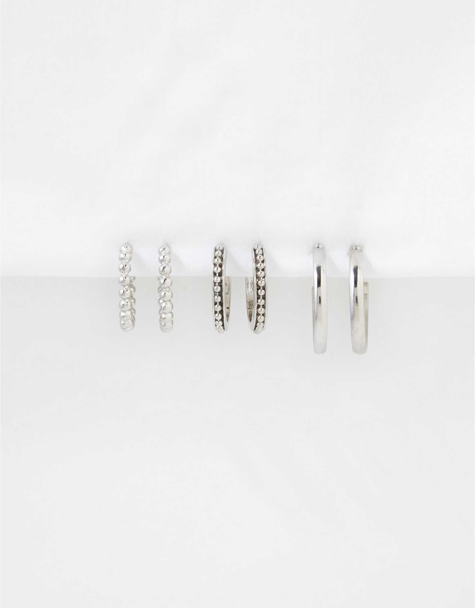 AEO Textured Hoop Earrings 3-Pack