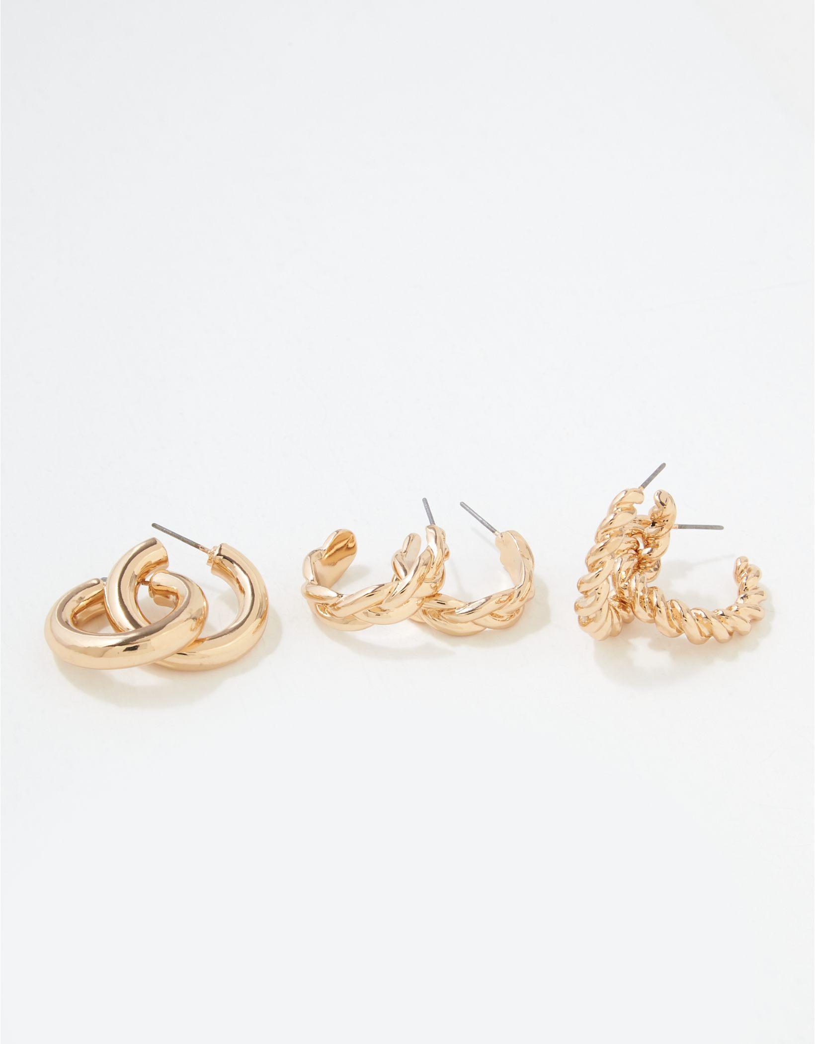 AEO Chunky Hoop Earrings 3-Pack