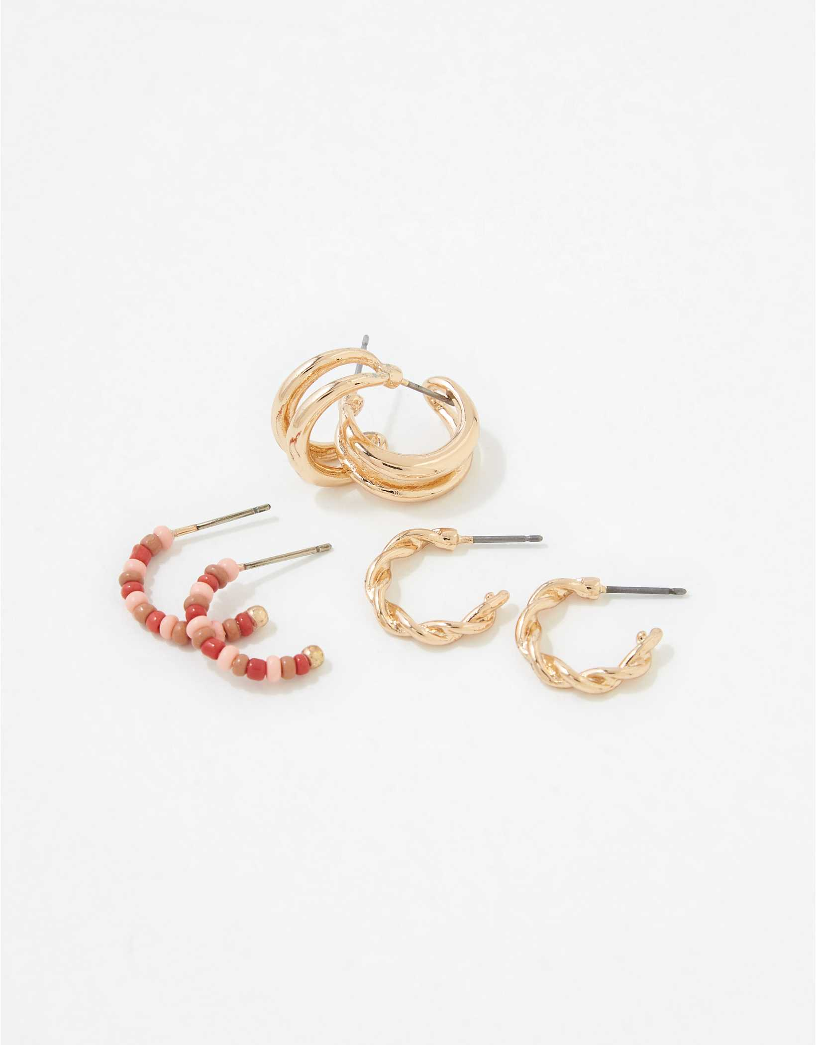AEO Beaded Hoop Earrings 3-Pack