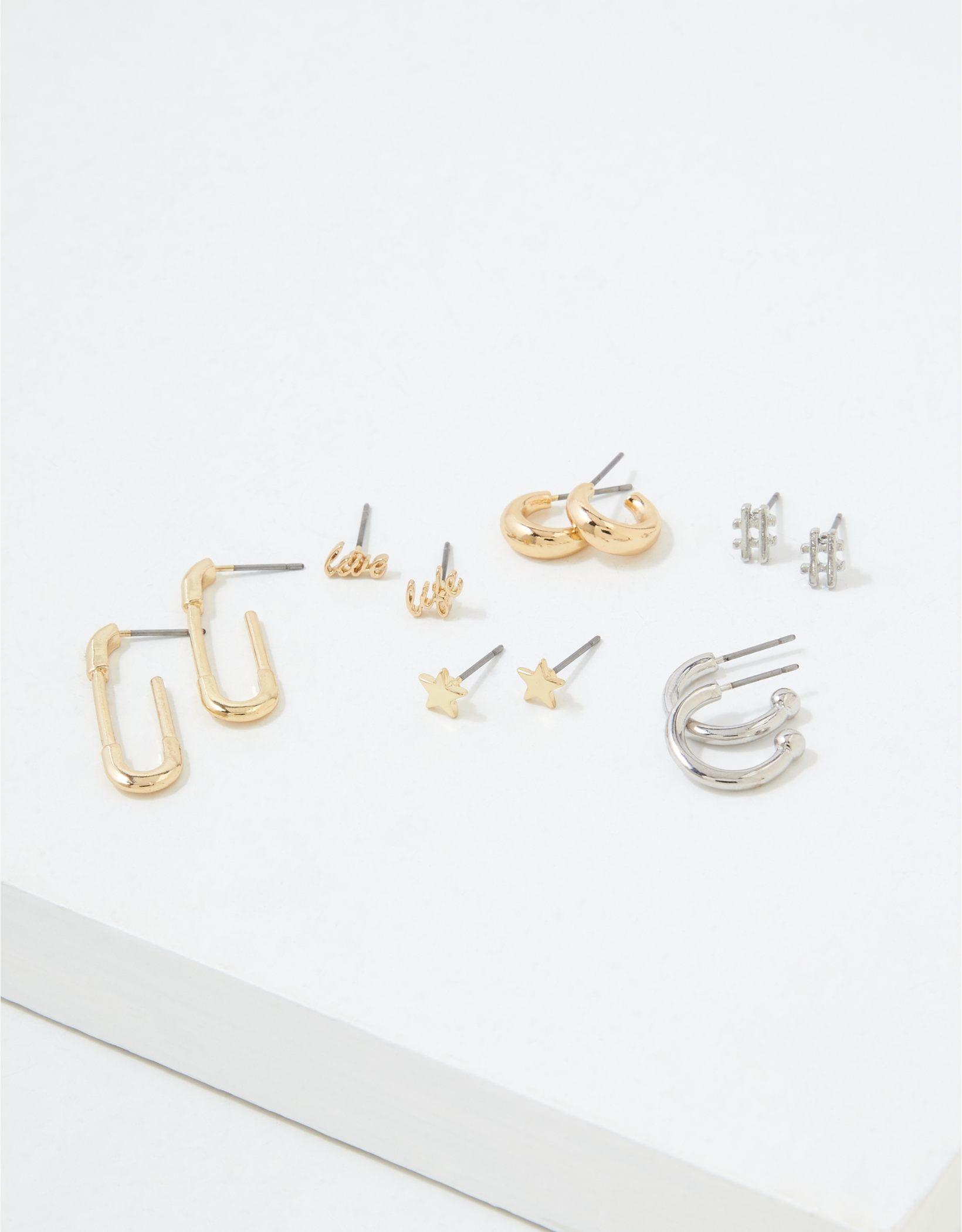 AEO Stud + Hoop Earrings 6-Pack