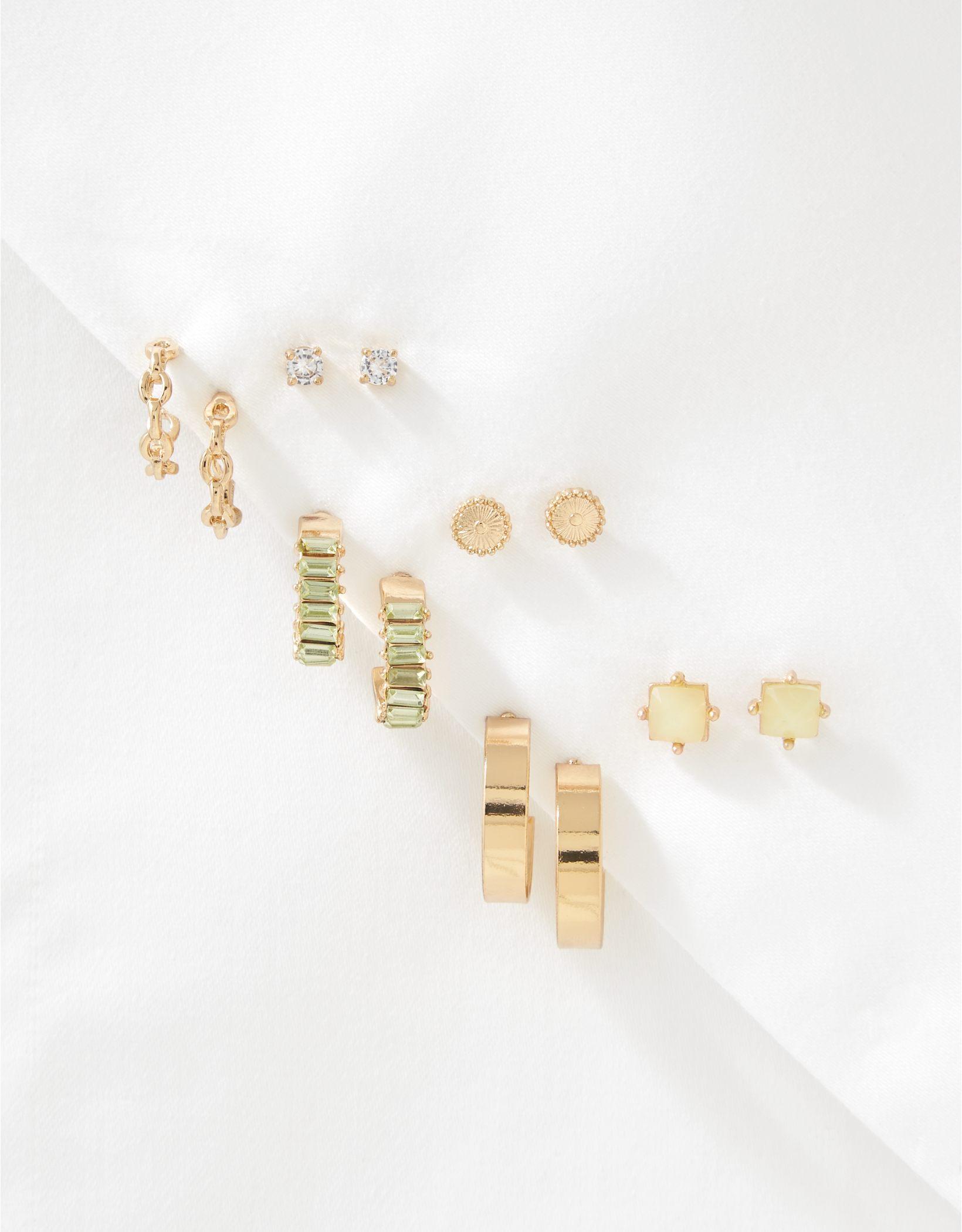 AEO Baguette + Stud Earrings 6-Pack