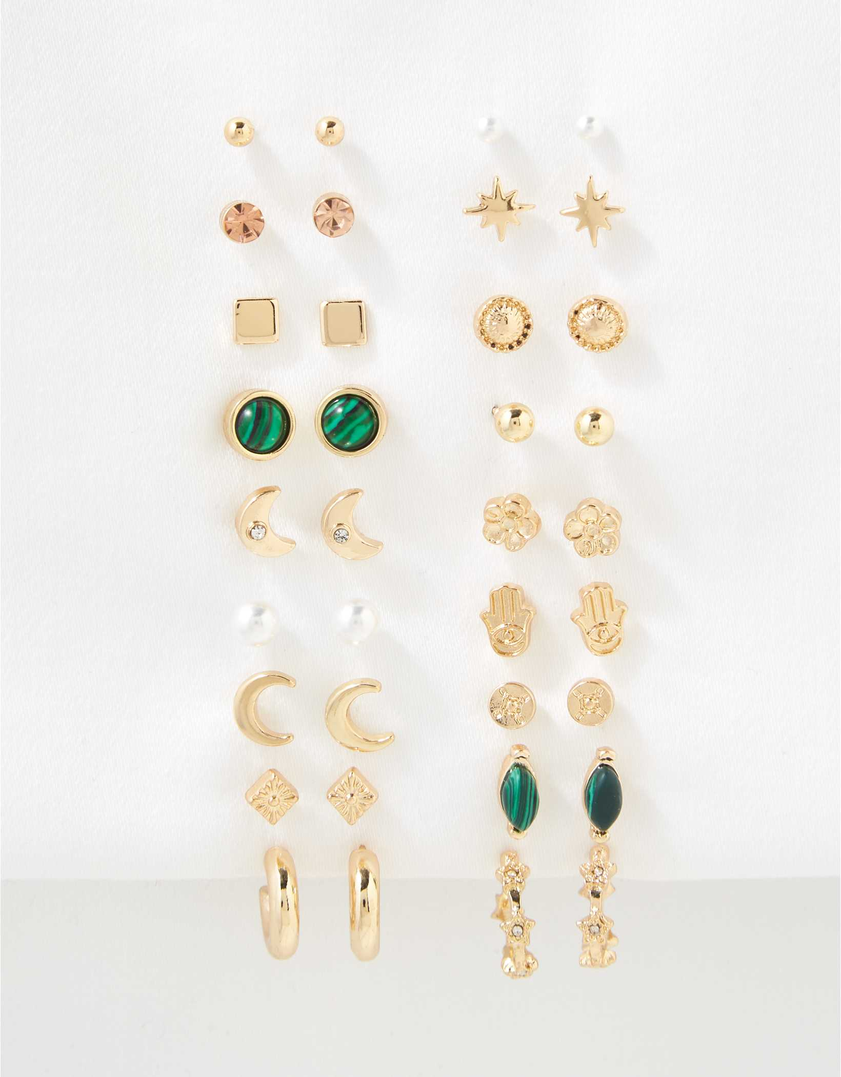 AEO Earth + Pearl Earrings 18-Pack