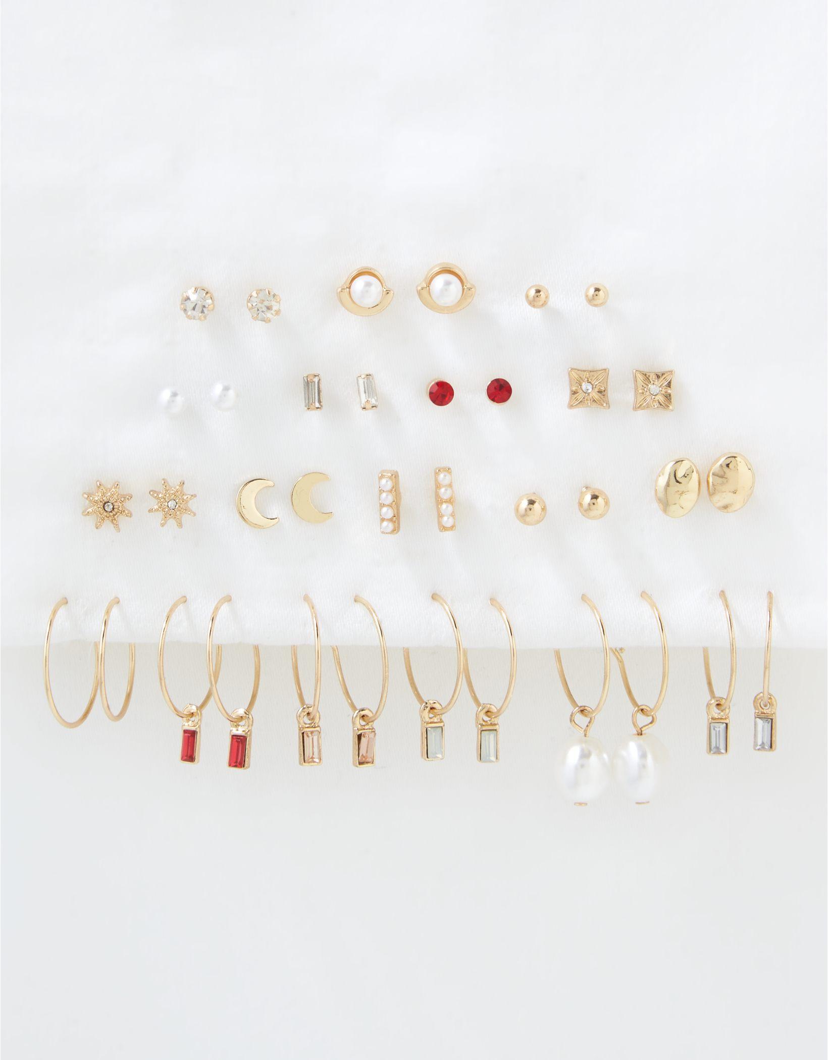 AE Glass Earrings 18-Pack