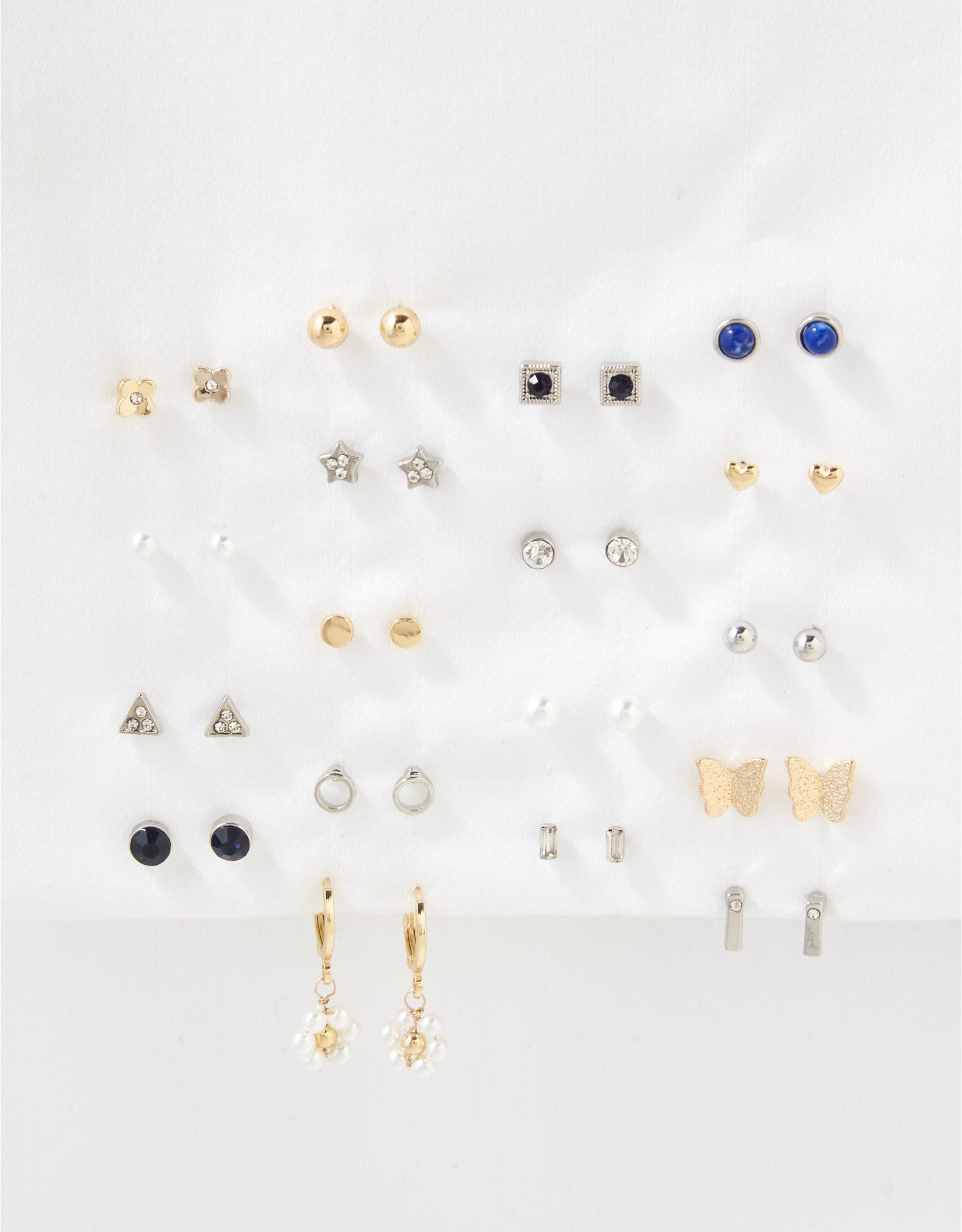 AEO Floral + Pearl Earrings 18-Pack