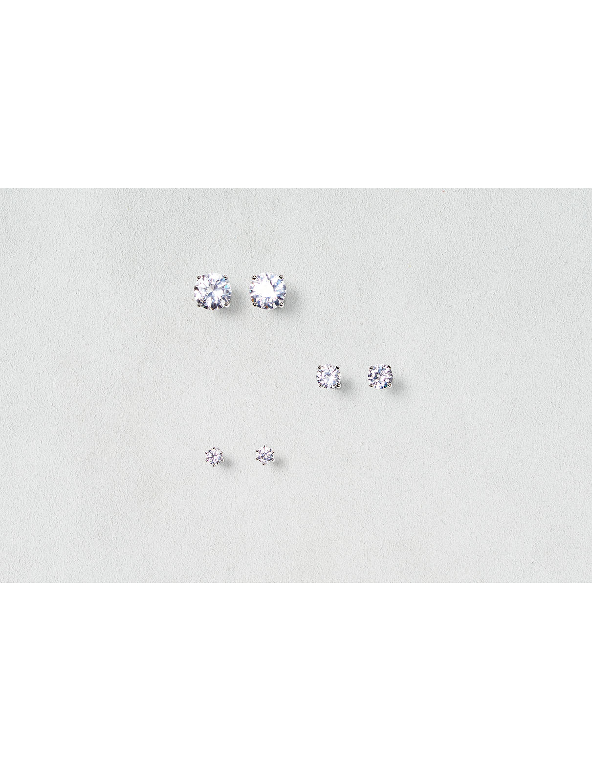 Display product reviews for AEO Cubic Zirconia Earring Trio