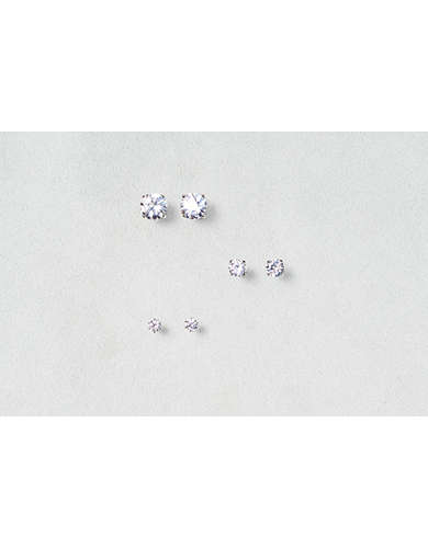 AEO Cubic Zirconia Earring Trio - Buy 3 for $30 USD