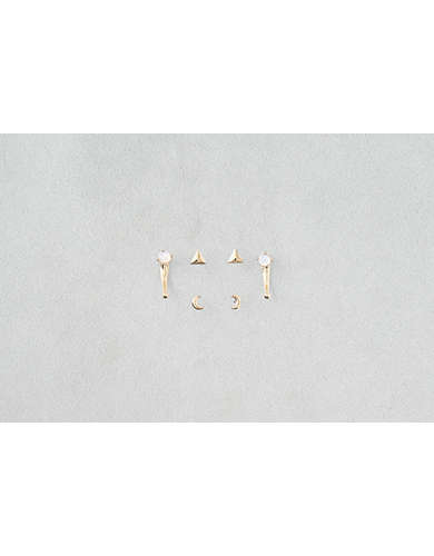 AEO Moons & Triangles Front Back Earrings -